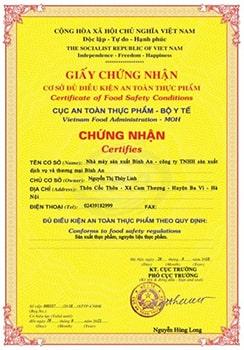 Chứng nhận và giải thưởng mầm đậu nành Linh Spa