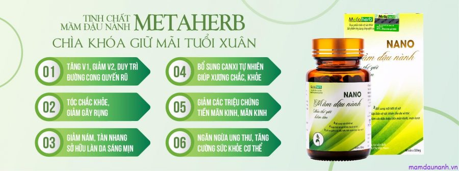 Công dụng tinh chất mầm đậu nành METAHERB
