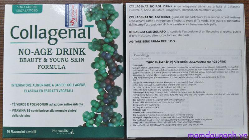 Nước uống đẹp da CollagenaT No-Age Drink